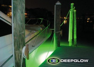 Underwater Dock Lights Attract The Fish Deep Glow