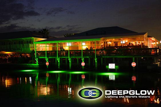Underwater Dock Lights Attract The Fish Deep Glow